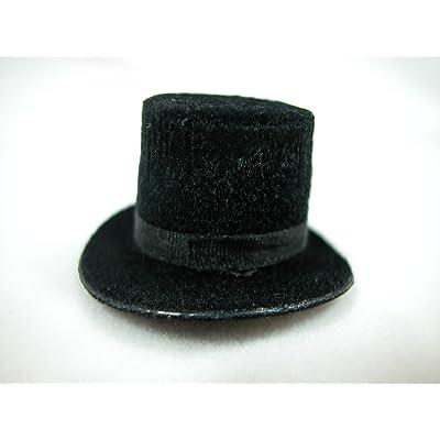 Heidi Ott Dollhouse Miniature 1:12 Scale Men's Top Hat Black #XZ781S: Toys & Games