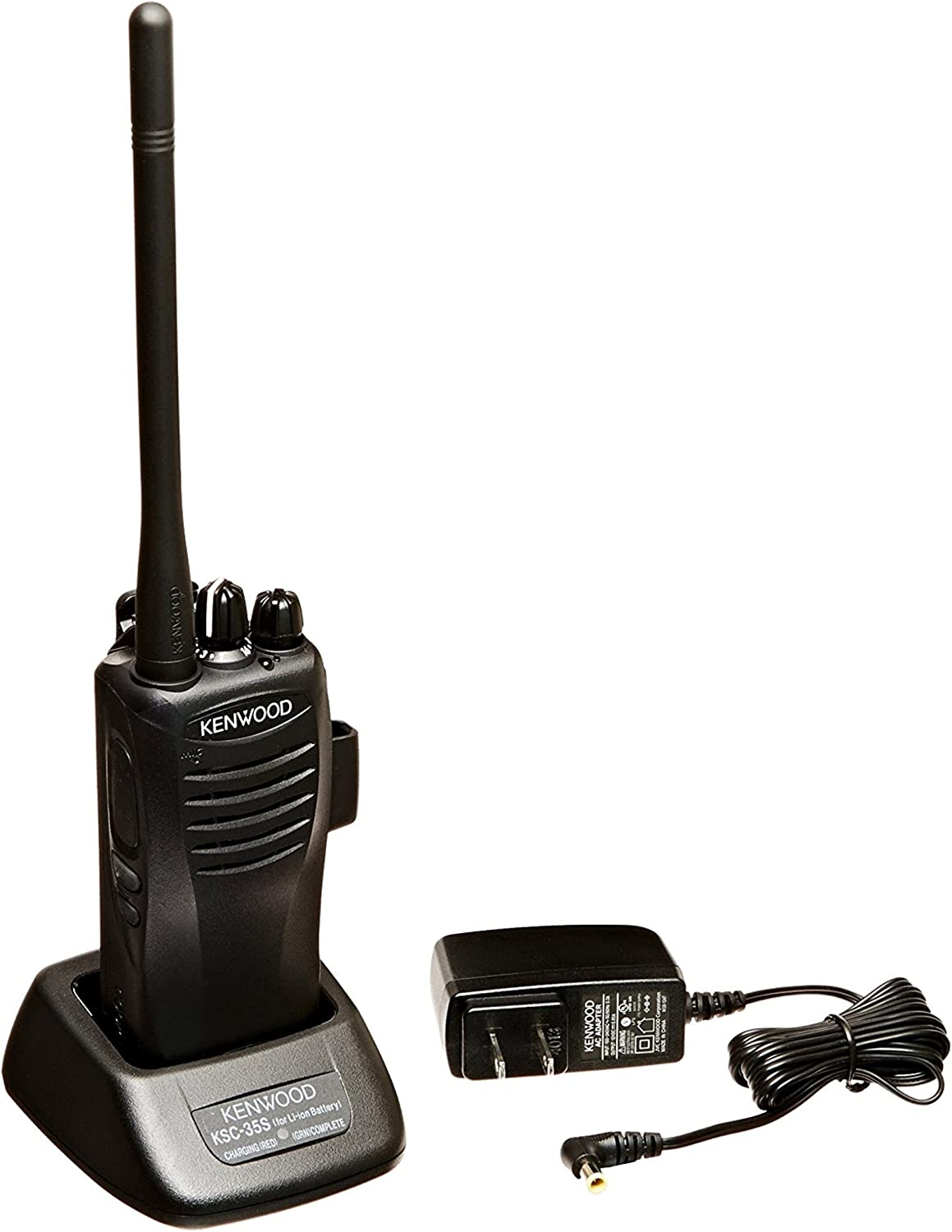 Kenwood TK-3400U16P PtoTalk 16 Channel Compact UHF FM 2-Watts Portable Two-Way Radio, Wireless Cloning, 90 UHF Pre-Programmed Banked Frequencies, Range Up to 6 Miles, QT/DQT Encode/Decode