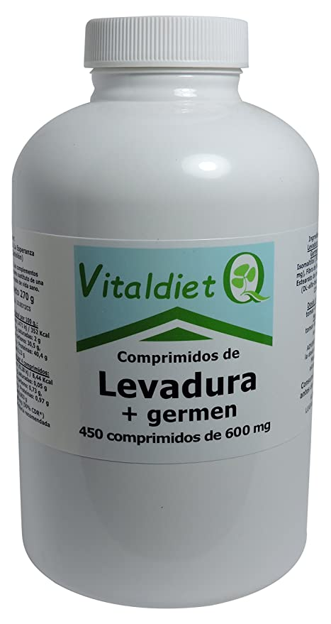 Vitaldiet Levadura + Germen - 450 Tabletas