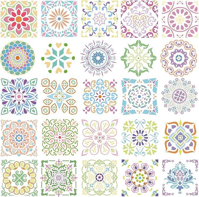 Om Flower Mandala Stencil 11x11 8x8 6x6 4x4 Reusable Mylar