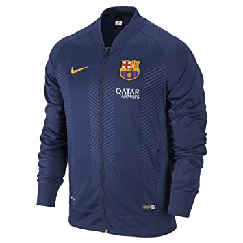 36dcbfd7d25ff Nike Chaqueta para Hombre FC Barcelona Squad Sideline Knit Pre Match Azul  Loyal Blue Sunlight