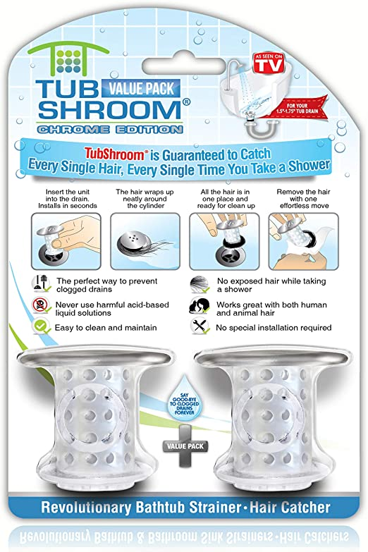 Chrome Hair Catcher Bathroom Drain Shower Stopper Bathtub Strainer Tub Shroom