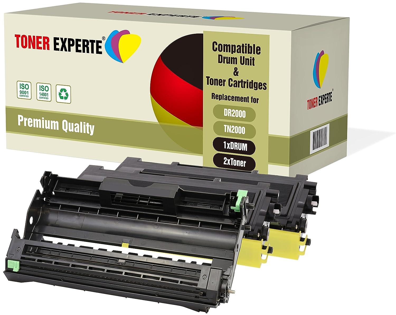TONER EXPERTE/® DR2000 Tambour TN2000 Toner Compatible pour Brother HL-2030 2032 2040 2050 2070 2070N DCP-7010 7010L 7020 7025 FAX-2820 2825 2920 MFC-7220 7225 7420 7820 7820N