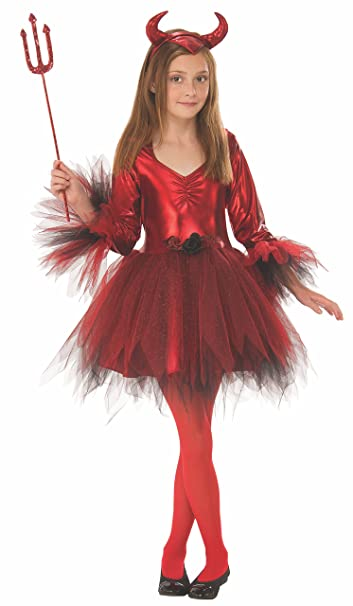 Amazon.com: Disfraz clásico de diablo para niña.: Toys & Games