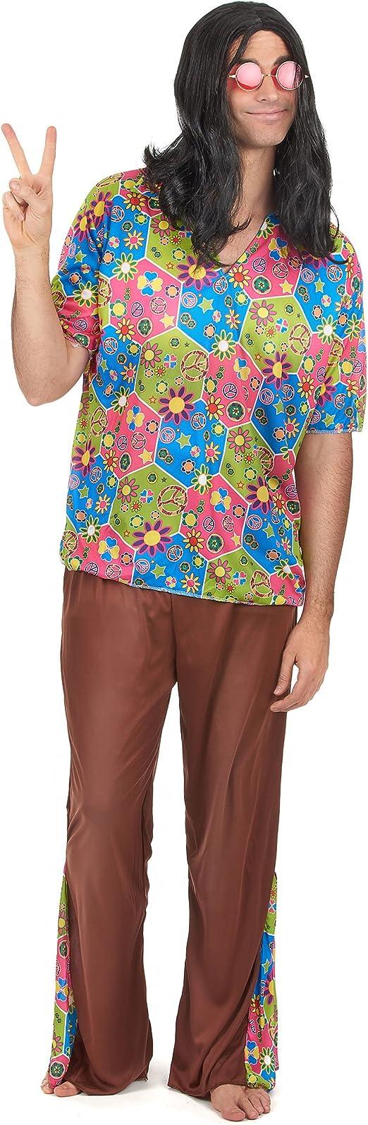 Disfraz de hippie hombre Única: Amazon.es: Juguetes y juegos