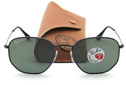 4ab6041c327 Image Unavailable. Image not available for. Color  Ray-Ban RB3548N HEXAGONAL  FLAT LENSES Black