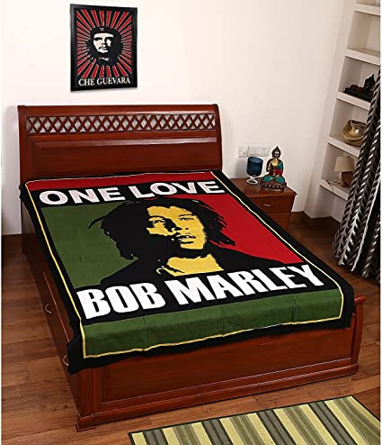 Amazon Com Beautiful Twin Bob Marley Print 100 Cotton Bedding Bed Cover Duvet Cover Hippie Wall Hanging Cover Wall Decorative Art Doona Duvet Cover Set With Pilow Cover Home Kitchen
