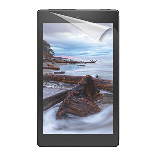 "NuPro Fire HD 8 Screen Protector Kit (8"" Tablet, 7th Generation – 2017 release), 2-Pack, Anti-Glare"