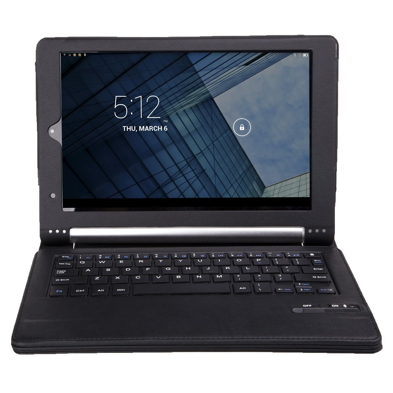 IVSO Funda de Cuero con Teclado Bluetooth para Lenovo YOGA 2 Pro 13.3-Inch Tablet - con Removable Keyboard (Negro)