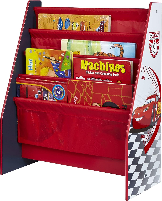 Disney Cars Kids Sling Bibliothèque-chambre de stockage par hellohome