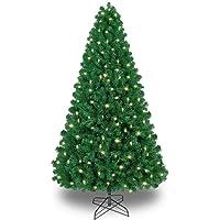 SHareconn Árbol de Navidad Verde Artificial de Pino,Árbol Artificial con 1178 Puntas,330 LED,Soporte Metálico, PVC Verde…