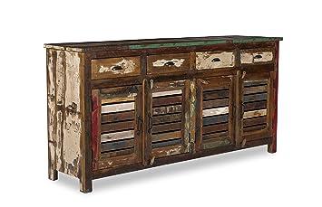Woodkings Sideboard Wakefield 4tur Recyceltes Massivholz Antik