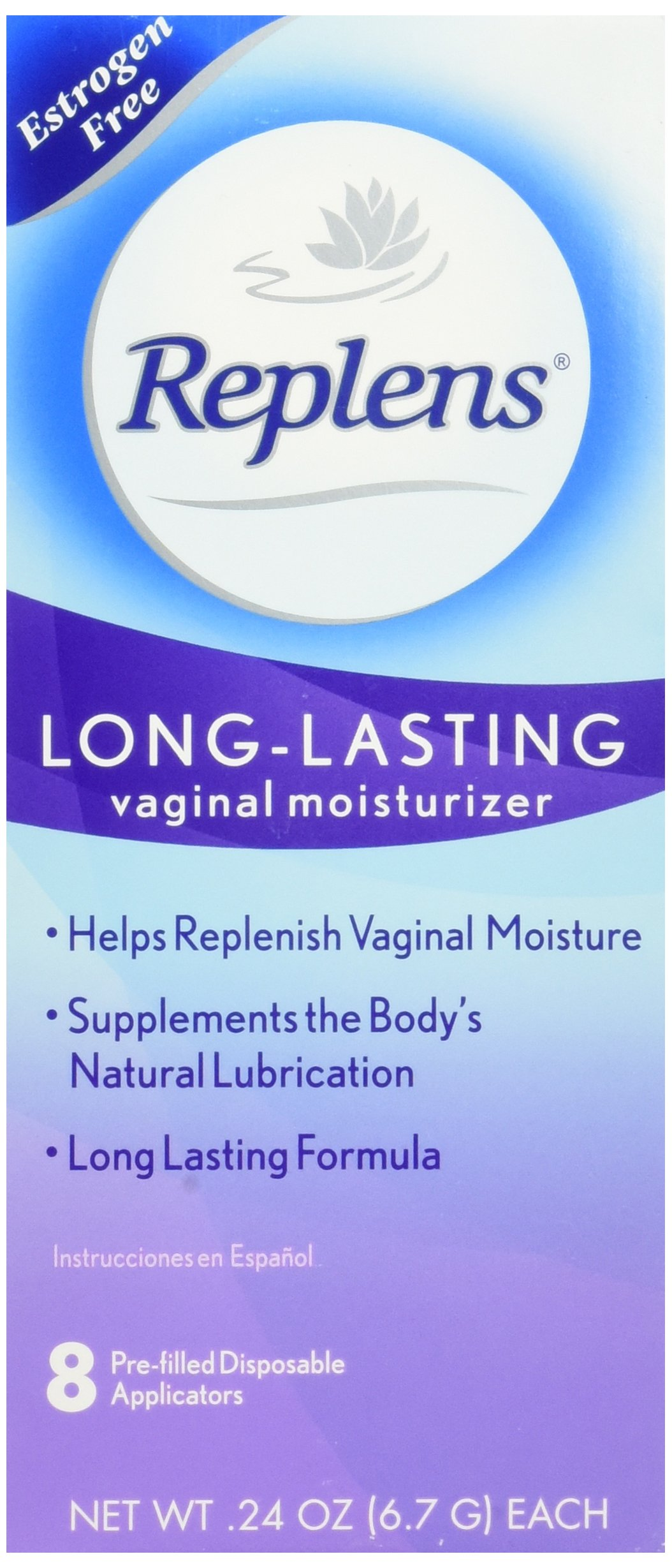Replens Long-Lasting Vaginal Feminine Moisturizer 8 Prefilled Applicators