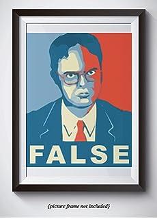 Amazoncom Posters Elites Dwight Shrute For President False