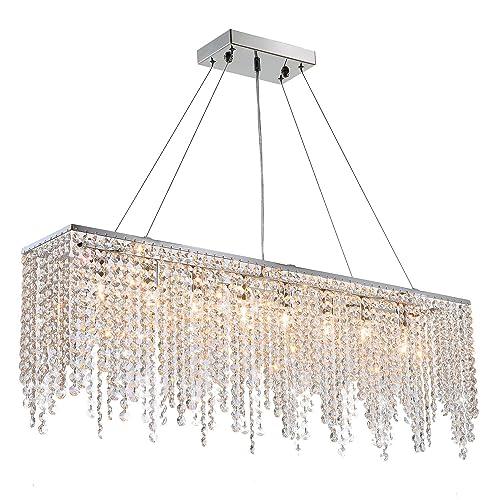 Contemporary Luxury Rectangular Linear Island Dining Room: Modern Foyer Lighting: Amazon.com