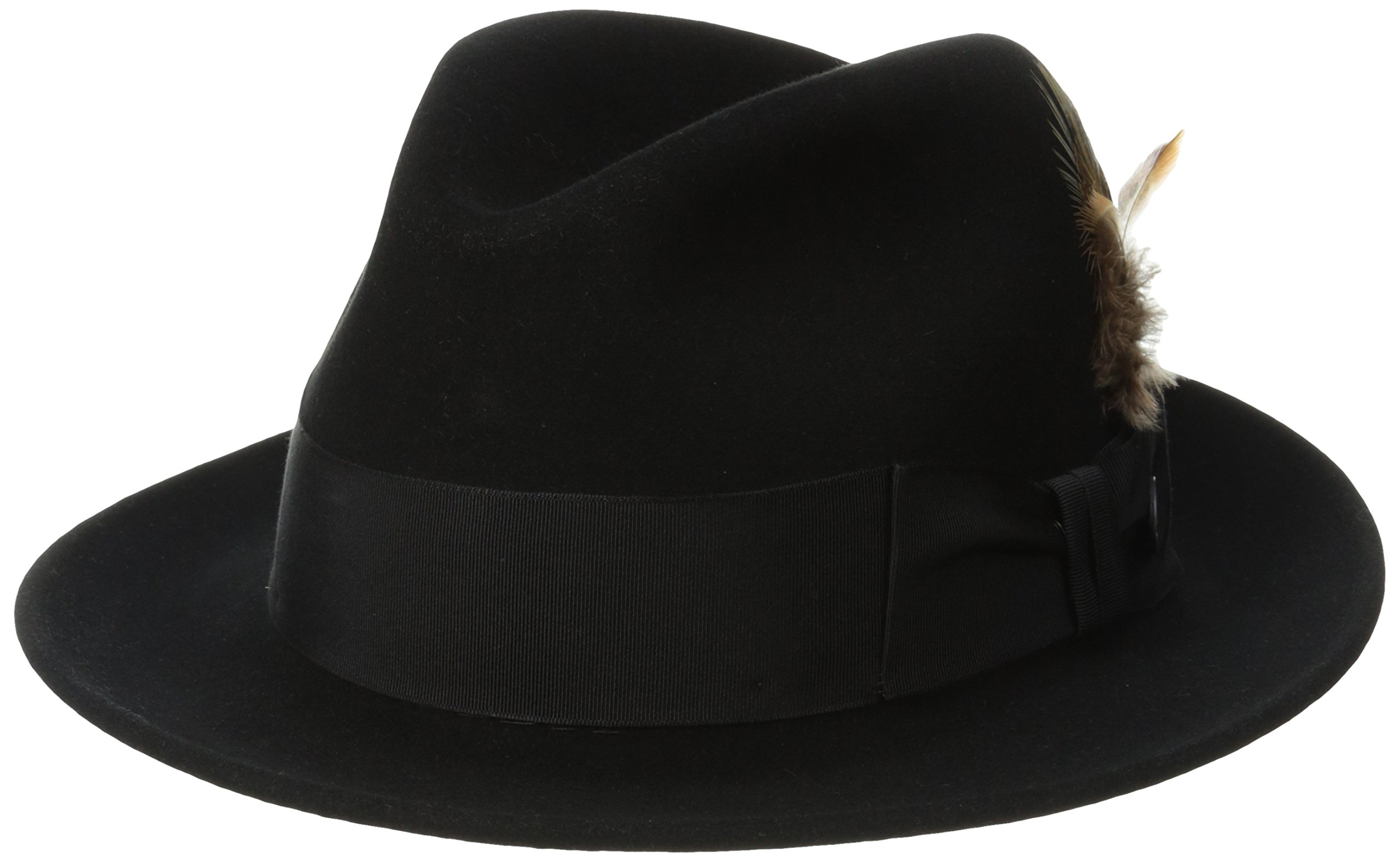 Stetson Men's Saxon Royal Quality Fur Felt Hat, Black, 7.375