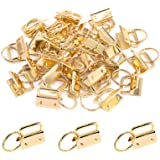 Swpeet 30Pcs Gold 1 Inch Key Fob Hardware with Key Rings Sets, Perfect for Bag Wristlets with Fabric/Ribbon/Webbing…