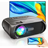 Wi-Fi Mini Outdoor Projector, Portable Projector for Outdoor Movies, Full HD 1080P Supported, Wireless Mirroring by WiFi…