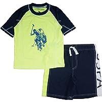 U.S. Polo Assn. Boys' 2-Piece Swimsuit Trunk and Rashguard