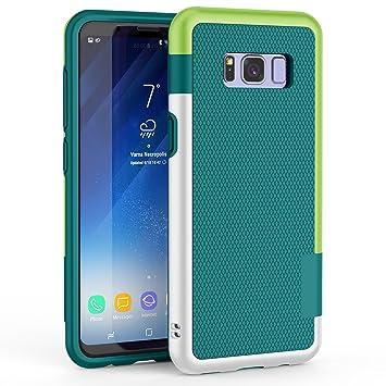 Funda Galaxy S8, HanLuckyStars TPU Fundas Carcasa para Samsung Galaxy S8 Case Galaxy S8 Funda con [Ultra Fina][Anti-Arañazos][Anti-Choques][Garantía ...