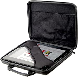 DURAGADGET Rigid Black EVA Protective Shell Case - Compatible with Samsung Galaxy Tab 10 /Acer Iconia Tab A500 & A510 Tablets