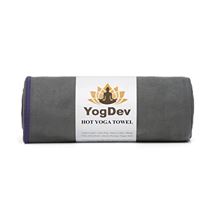 Yoga caliente toalla por yogdev – PREMIUM toallas de microfibra y ante (como Bikram &