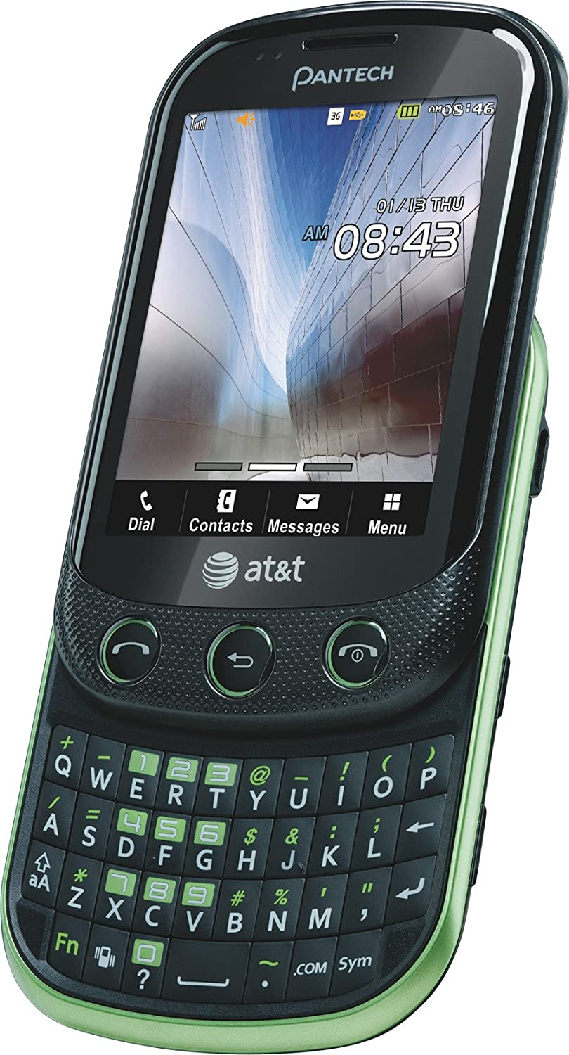 amazon com pantech pursuit ii phone green at t cell phones rh amazon com Pantech Burst AT&T Pantech Pursuit