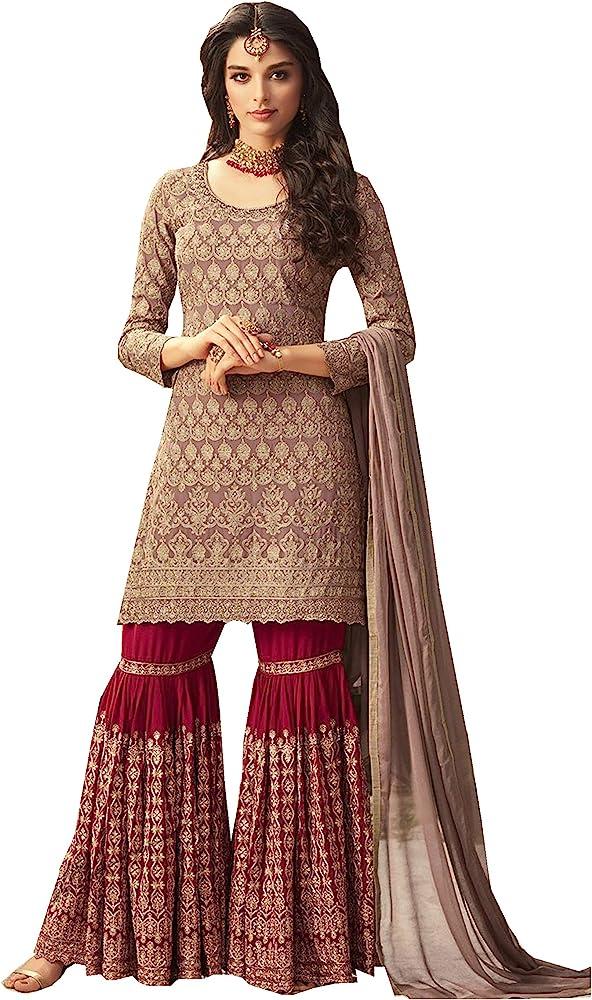 New Ladies Indian Pakistani Party wear Wedding Long Anarkali Churidar Suit 40 42