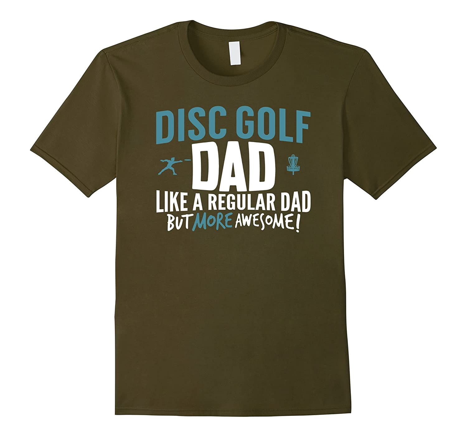 Men's Disc Golf Dad Shirt Awesome Fathers Day Gift Disk Player
