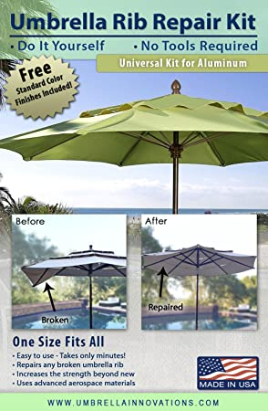 Patio umbrella rib repair kit for aluminum amazon garden patio umbrella rib repair kit for aluminum solutioingenieria Choice Image