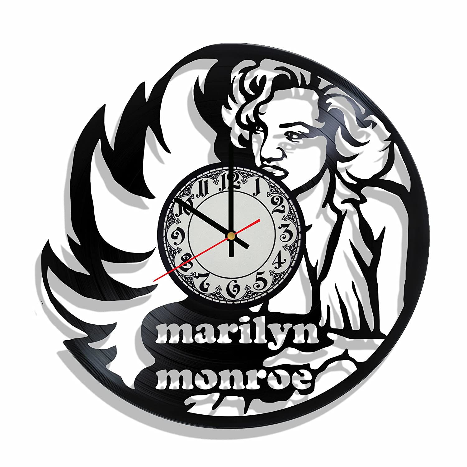 Amazon.com: Original vinyl wall clock Marilyn Monroe made from real vinyl record, Marilyn Monroe decal, Marilyn Monroe wall poster (white): Home & Kitchen
