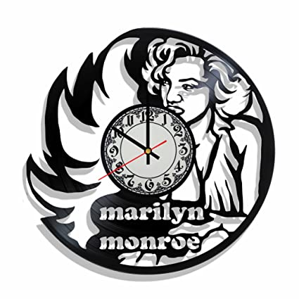 Amazon.com: Original vinyl wall clock Marilyn Monroe made from real vinyl record, Marilyn Monroe decal, Marilyn Monroe wall poster (brown): Home & Kitchen