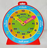 NEW TEACHING CLOCK FOR LEARNING TO TELL THE TIME MAGNETIC BACK 21cm COLOURFUL NK