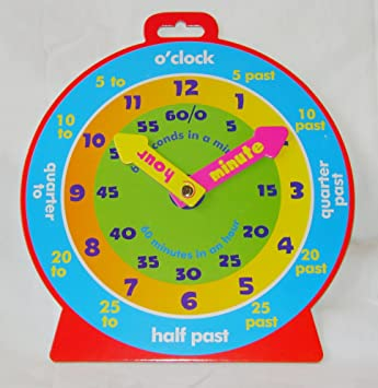 NEW TEACHING CLOCK FOR LEARNING TO TELL THE TIME MAGNETIC BACK ...