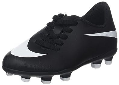 online store 656cf 8ed5e Nike Unisex-Kinder Jr Bravata Ii Fg Futsalschuhe Schwarz White-Black 001,  29.5