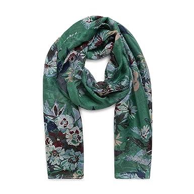 MONOPRIX FEMME - Etole en soie imprimé bouquet de fleurs - Femme - Taille    TU 3c3523011e5