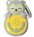 Cloud B Sweet Dreamz On The Go Soother, Owl Sleep Soothers, Grey/Yellow
