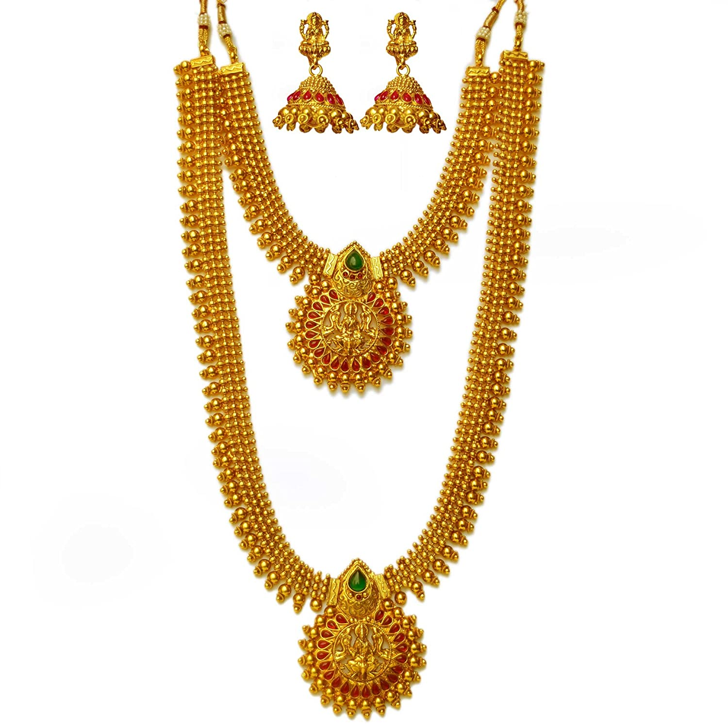 gold plated designs south jewellery small women collections designer gorgeous online original necklace set indian buy shopping