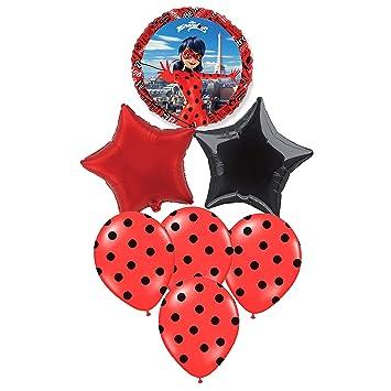 Pack 7 Globos Ladybug Especial para Fiestas DE CUMPLEAÑOS ...
