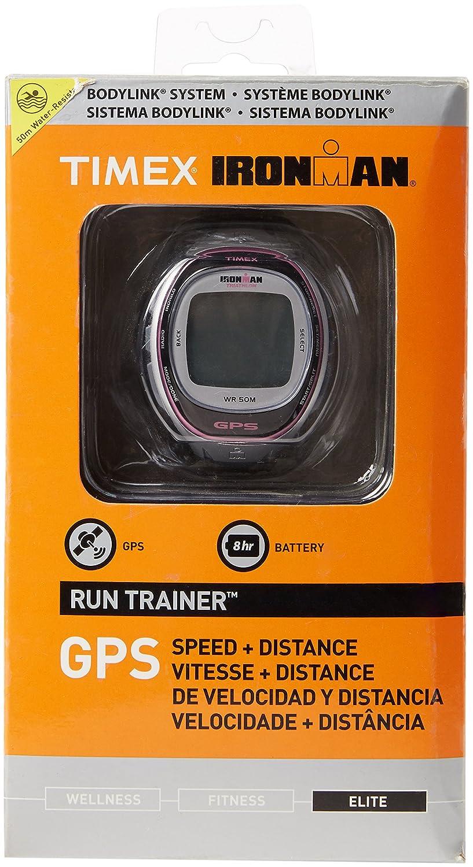Amazon.com : Timex T5K629 Ironman Run Trainer GPS Watch - Silver ...