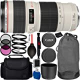 Canon EF 70-200mm f/4L USM Lens Bundle with Manufacturer Accessories & Accessory Kit for EOS 7D Mark II, 7D, 80D, 70D, 60D, 50D, 40D, 30D, 20D, Rebel T6s, T6i, T5i, T4i, SL1, T3i, T6, T5, T3, T2i