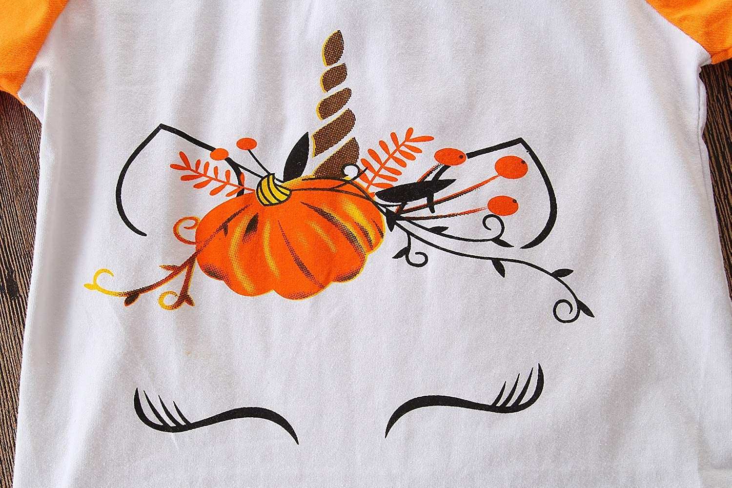 Samgami Baby Girls Long Sleeve Pumpkin Shirt Girls Outfits