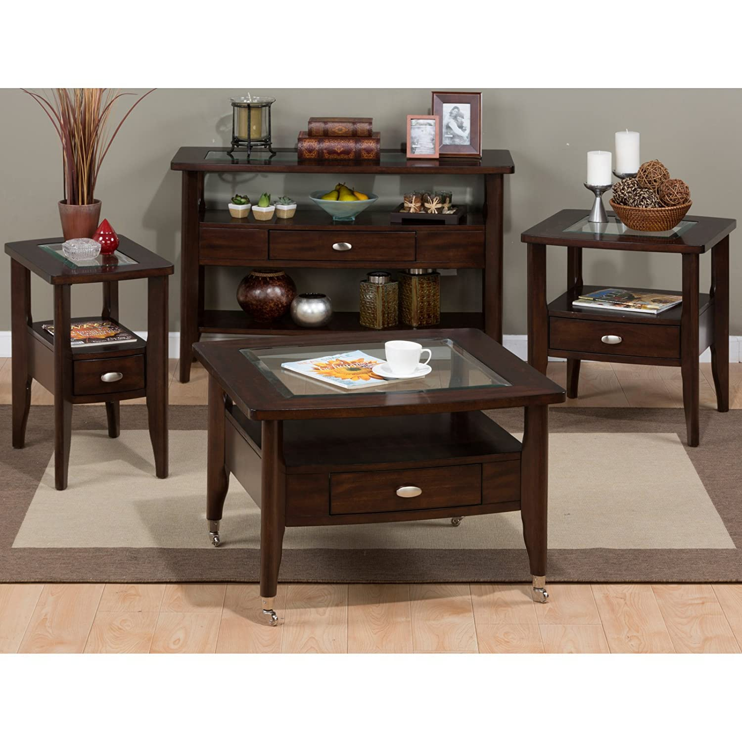 Amazon.com: Jofran Montego Sofa Table - Montego Merlot: Kitchen & Dining