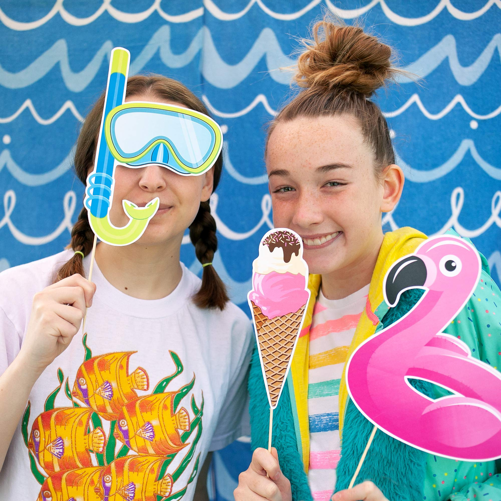 Beach Party Photo Booth Props by Paper and Cake - 18 piece set by Paper & Cake (Image #2)
