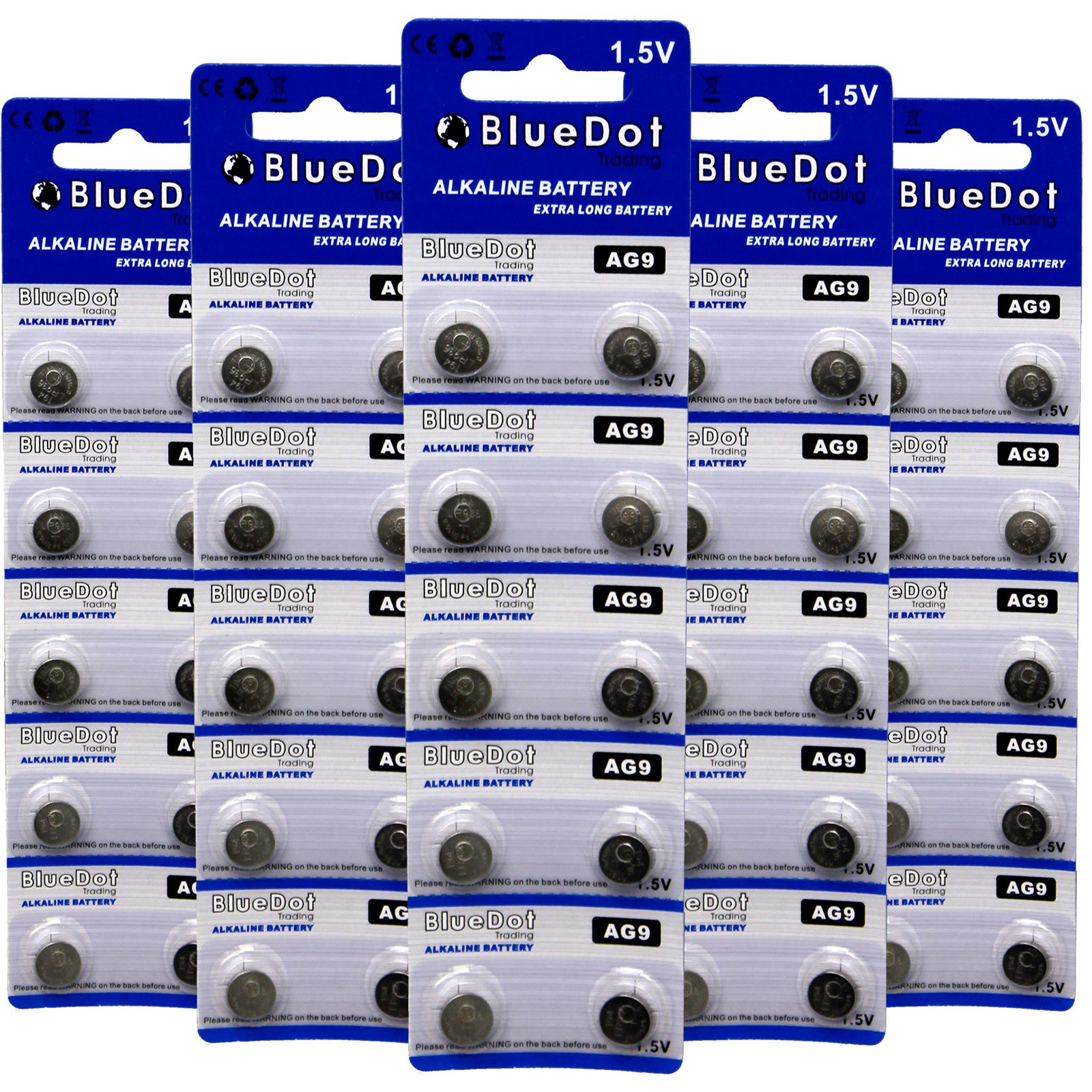 BlueDot Trading AG9 Batteries, 50 Count