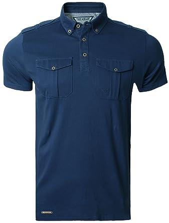 Mens Pique Polo Shirt T-shirt Top Short Sleeve Cotton Threadbare Ashgate  Polo, Navy