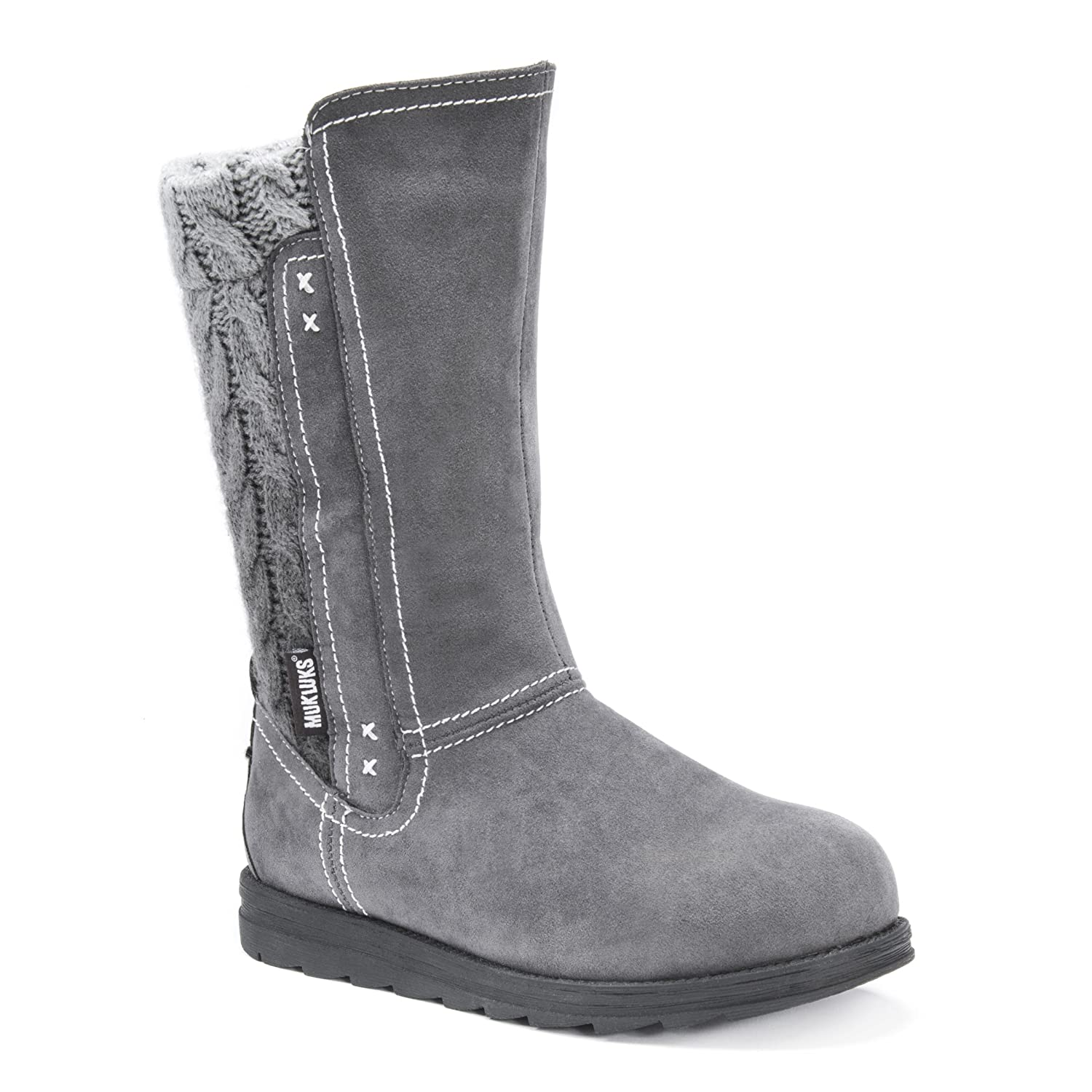 MUK LUKS Women's Stacy Fashion Boot B072K6RK7H 6 B(M) US|Grey