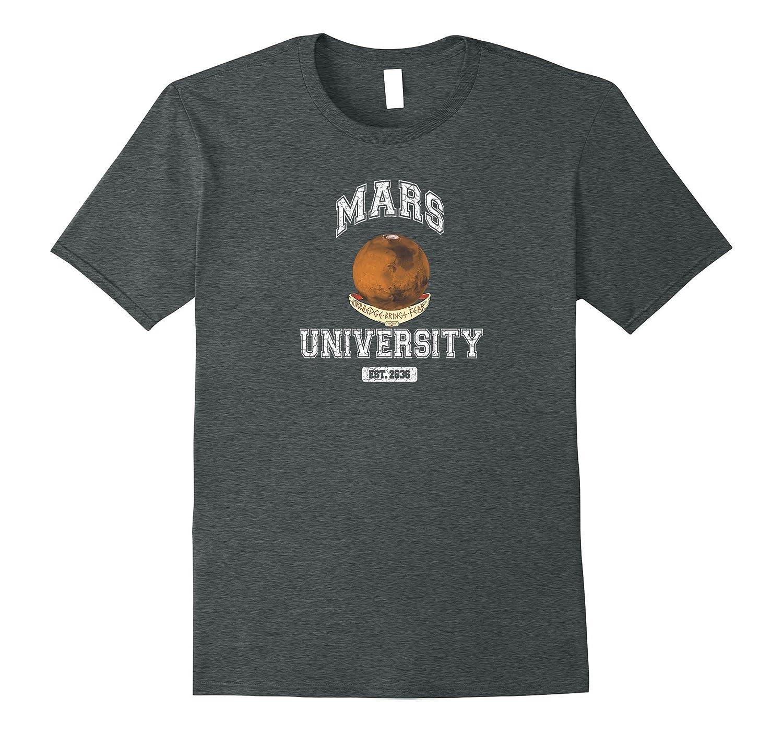 Mens Mars University T Shirt Asphalt-Teechatpro
