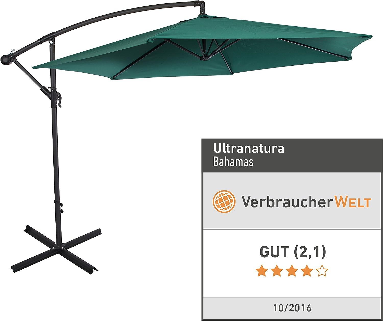 Ultranatura 20010000041b Cantilever Parasol Vert