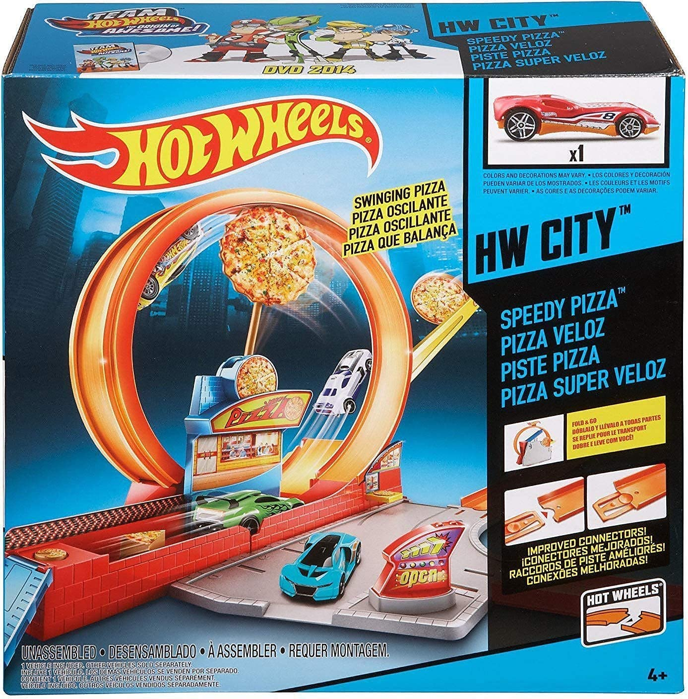 Hot Wheels Mattel Speedy Pizza Set, Multicolor